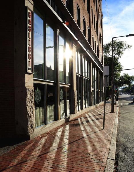 Outside Gaslight Brasserie South End Boston